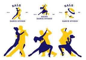 plat salsa community sticker vector