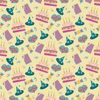 gelukkige verjaardag naadloze patroon