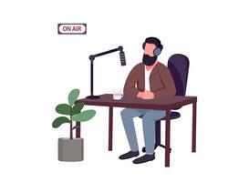 gastheer van de radioshow vector