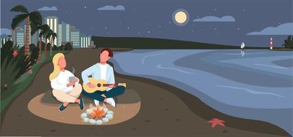 avondpicknick aan zandstrand