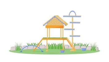speelhuisje in het park vector