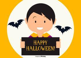 Leuke Gelukkige Halloween Illustratie