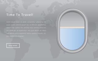 Vliegtuig metalen zijporthole venster vector
