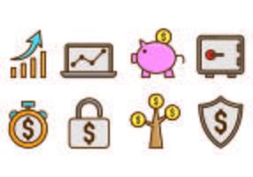 Set Icon of Revenue vector