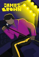 James Brown Illustratie Vector