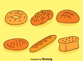 Zachte Brood Verzameling Vector