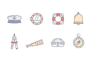 marine icon pack vector