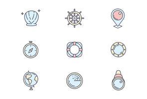Marine Pictogrammen vector