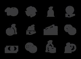 Inkomenspictogrammen vector