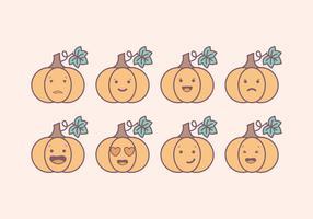 Vector Pompoen Emoticons