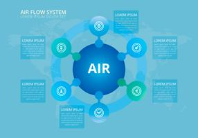 Leven van de natuur. Luchtstroom systeem. vector