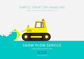Snowplough Service Brochure Template vector
