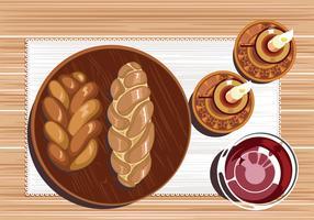 Challah Bread Vector
