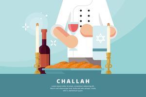 Challah Illustratie vector