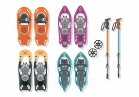 Sneeuwschoenen Vector Pack