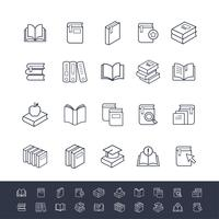 Set Boek Iconen vector
