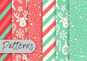 Leuke kerstpatroon set vector