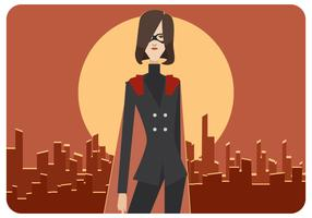 Super werknemer vrouw vector