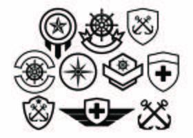 Gratis Army Badge Collection Vector