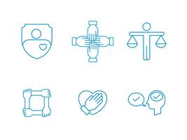 blauwe integriteit pictogram vector