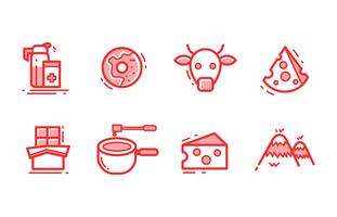 Zwitserland pictogrammen vector