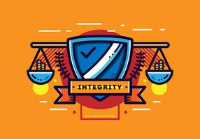 Gratis integriteit badge vector