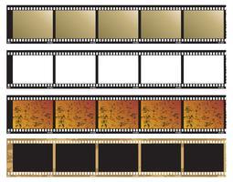 Negatieve foto's van foto's vector