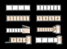 Foto negatieve pictogrammen Vector