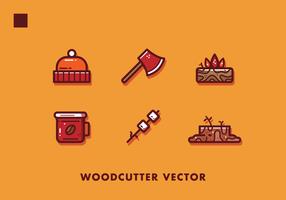 Gratis houthakker artikelen Vector