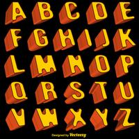 Vector oranje 3d lettertype