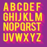 3D-lettertypen Neon Colors Vector