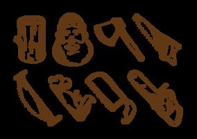Houthakker pictogrammen Vector