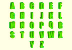 Set van 3D-lettertypen Vector