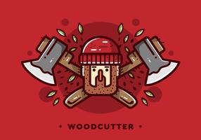 Houthakker houthakker Badge Vector