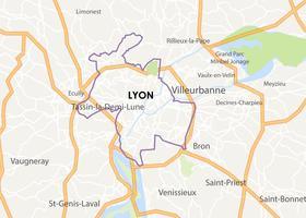 Kaart van de stad Lyon vector
