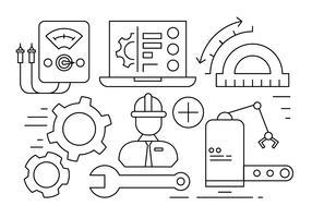 Gratis engineering illustratie vector