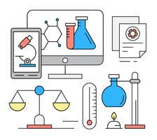 Gratis lineaire chemie iconen