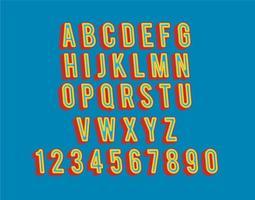 3D-lettertype vector set