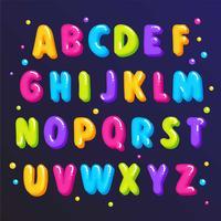 Leuke kleurrijke lettertype vector