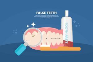 Valse tanden illustratie