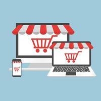 computer concept online winkelen vector