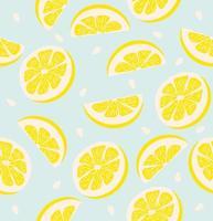 schijfje een citroen patroon naadloze achtergrond vector