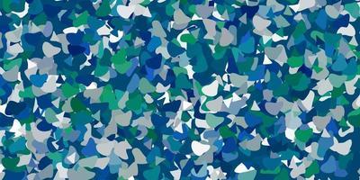 lichtblauw, groen sjabloon met abstracte vormen.