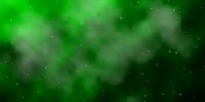 lichtgroene sjabloon met neonsterren.