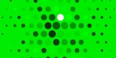 lichtgroene achtergrond met cirkels.