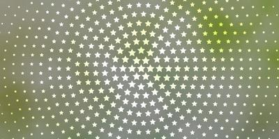 lichtgroene textuur met prachtige sterren. vector