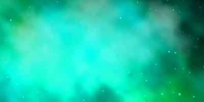 lichtgroene sjabloon met neonsterren. vector