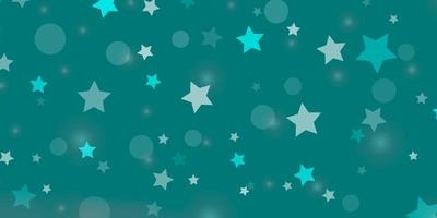 lichtgroene achtergrond met cirkels, sterren.