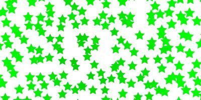 lichtgroene achtergrond met kleine en grote sterren.