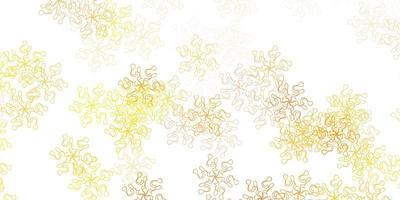 lichtgeel doodle patroon met bloemen.